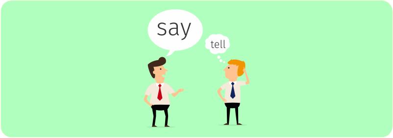 Qual a diferença entre Say e Tell?