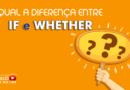 diferença entre if e whether