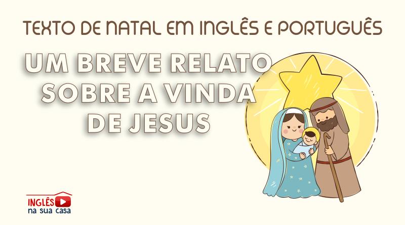 EXTO DE NATAL EM INGLÊS E PORTUGUÊS