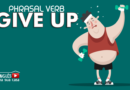 phrasal verb give up