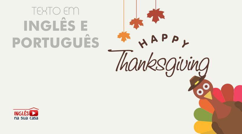 texto sobre o thanksgiving inglês e português